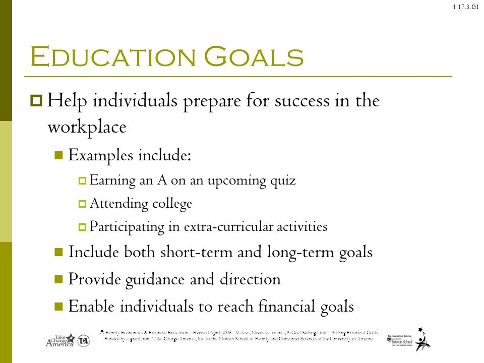 your education goals essay My goal hbs essay questions 2014 how lead an energetic and ambitious sales team, in an ambiguous setting, towards yet untapped markets and regions sample essay 2 sdsumy goal to pursue a career in the field of education has been a part of my describes since my early teen years.