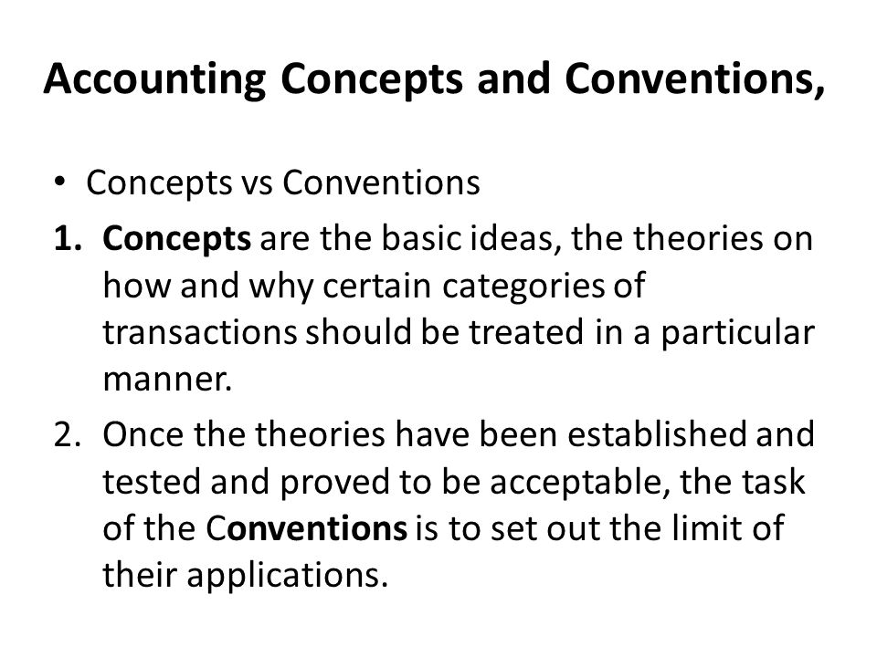 what is accounting concept and convention