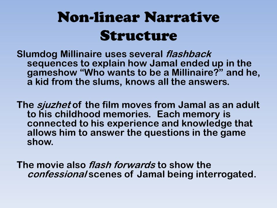What is memory and what role does it play in slum dog millionaire essay