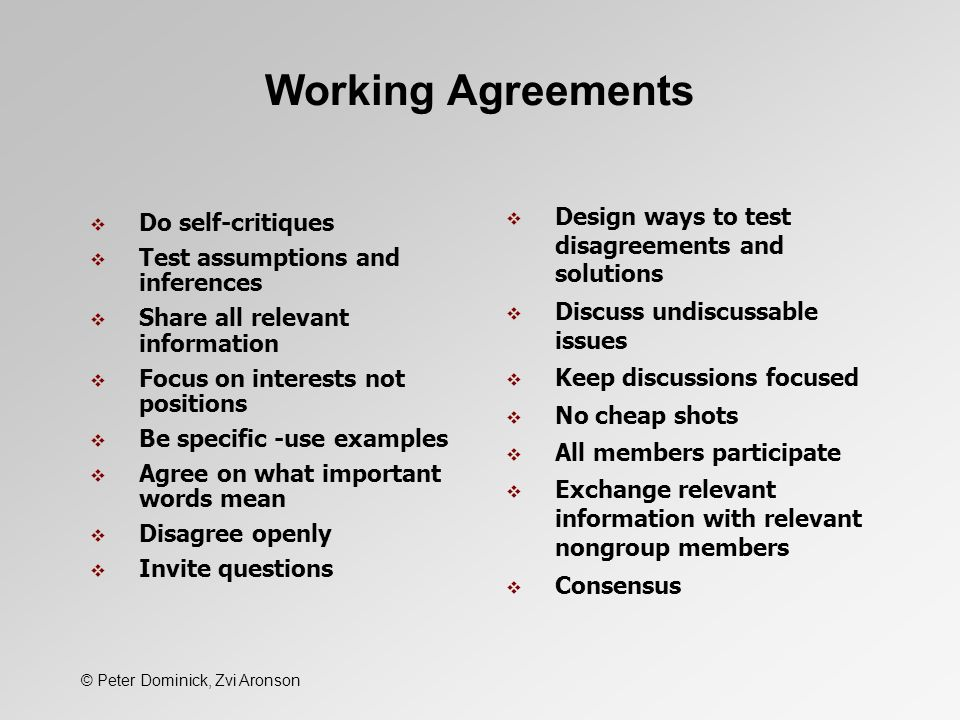 All About Working Agreements Leadership Simplified Doug Van Dyke