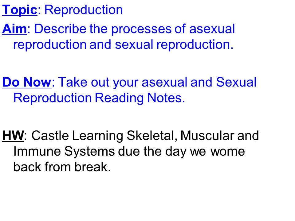 Sexual reproduction and genetics before you read
