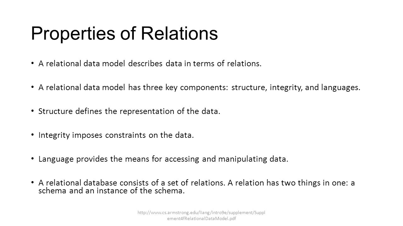 IT 5433 LM3 Relational Data Model  Learning Objectives: List