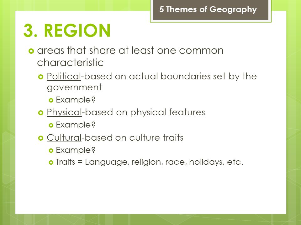5 themes of geography movement examples