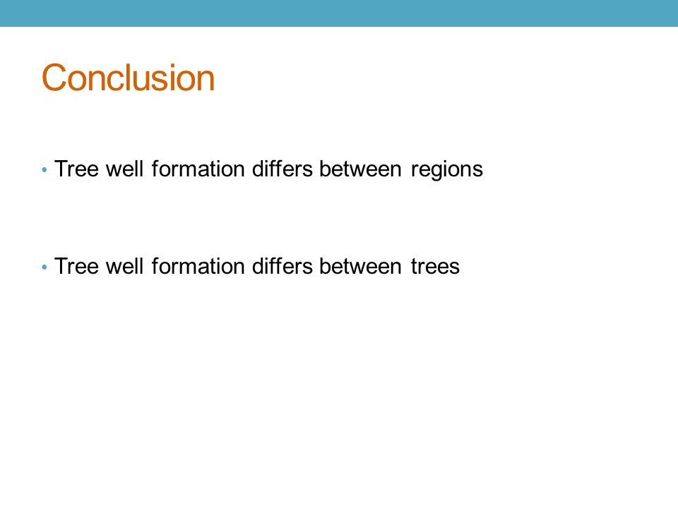 conclusion of trees