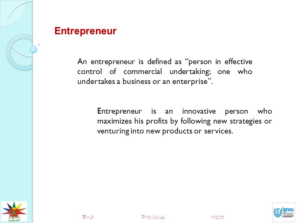 commercial entrepreneurship definition