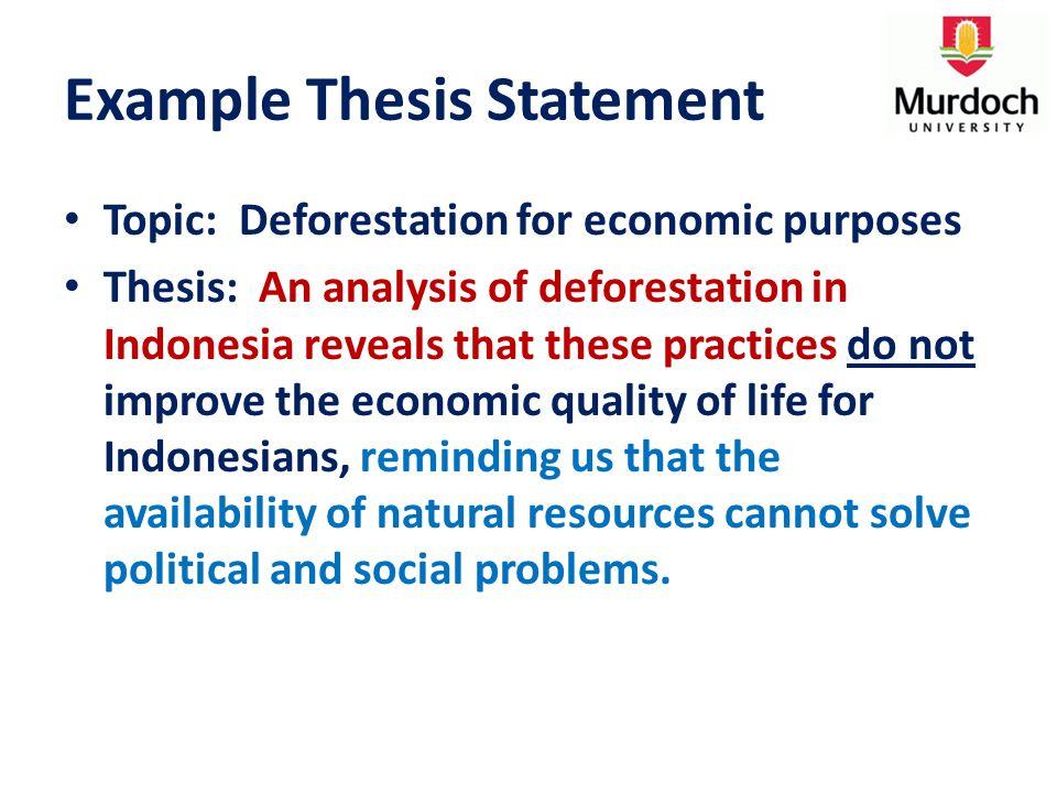 Deforestation thesis state farm dissertation award