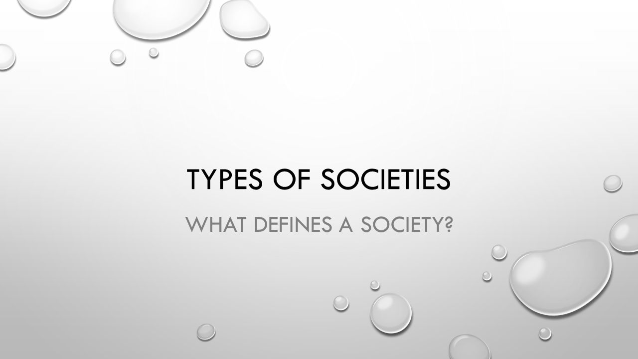 Typology of societies