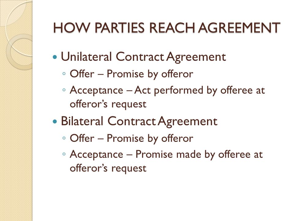 Contracts Chapter 5 Section 51 Elements Of A Contract Offer