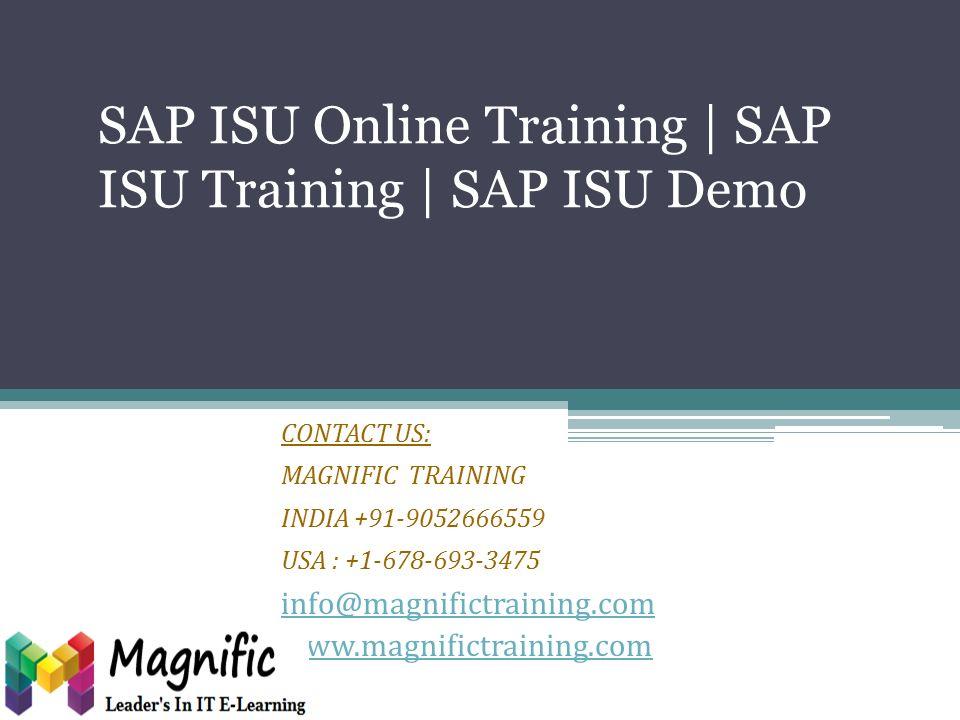 SAP ISU Online Training | SAP ISU Training | SAP ISU Demo