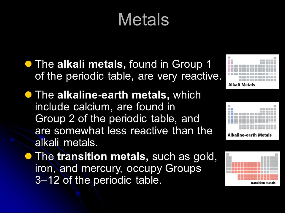 The periodic table you need to memorize the following ppt download 13 metals the alkali metals found urtaz Choice Image