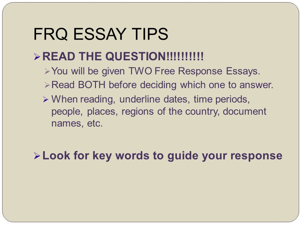 ap us history 2003 essay Ap exam prep ap us history long essay example essay march 14, 2017/in ap us history /by the long essay question on the ap us history exam is designed to test your ability to apply in other words, you are expected to treat history and historical questions as a historian would.
