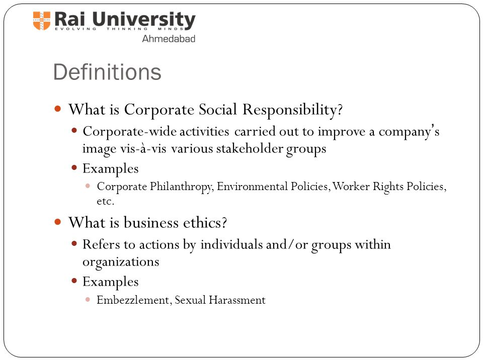 Corporate social responsibility problem statement example and.