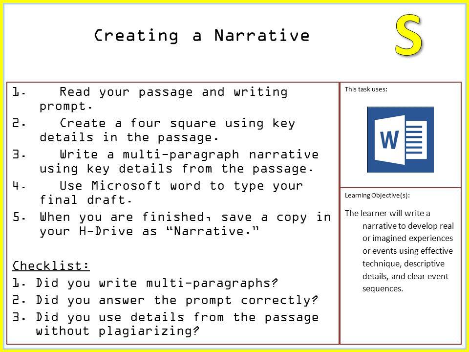 passage writing topics