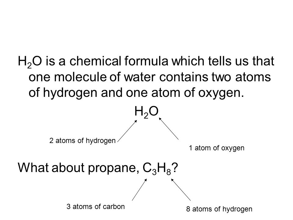 Chemical Symbols Formulas And Equations Looking At Water As A