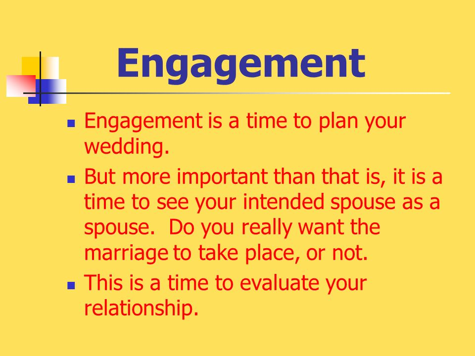 how long before engagement