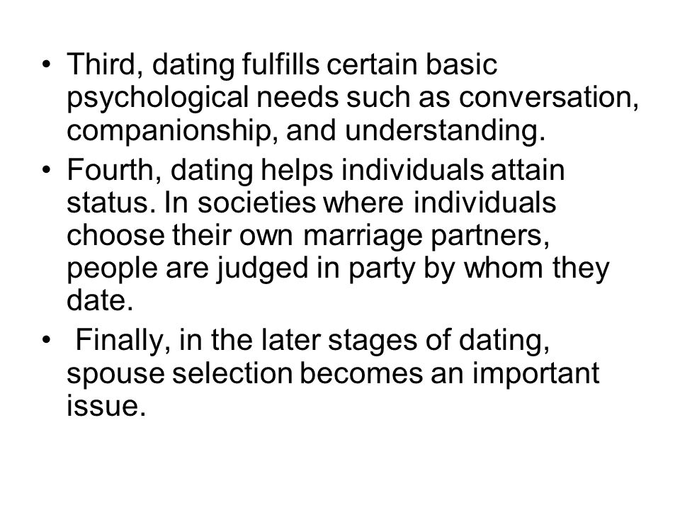 stages of dating psychology