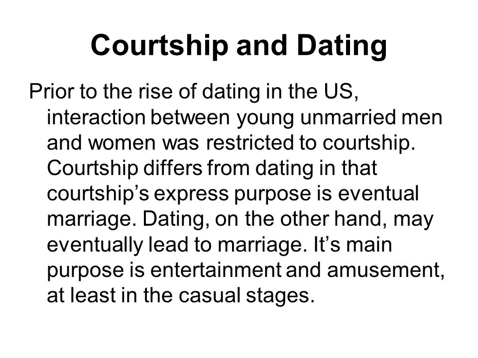 Who concluded that casual dating was a form of entertainment
