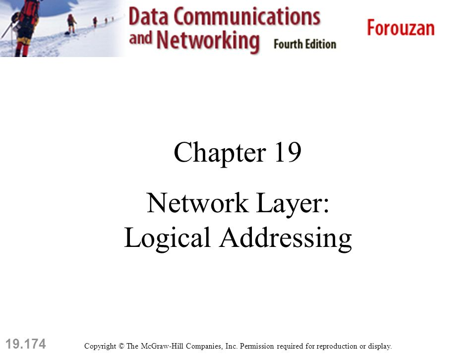 19.174 Chapter 19 Network Layer: Logical Addressing Copyright © The McGraw-Hill Companies, Inc.