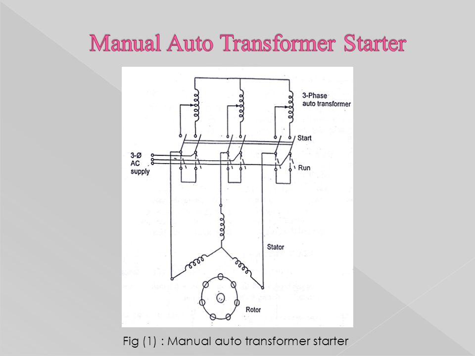 13 fig (1) : manual auto transformer starter