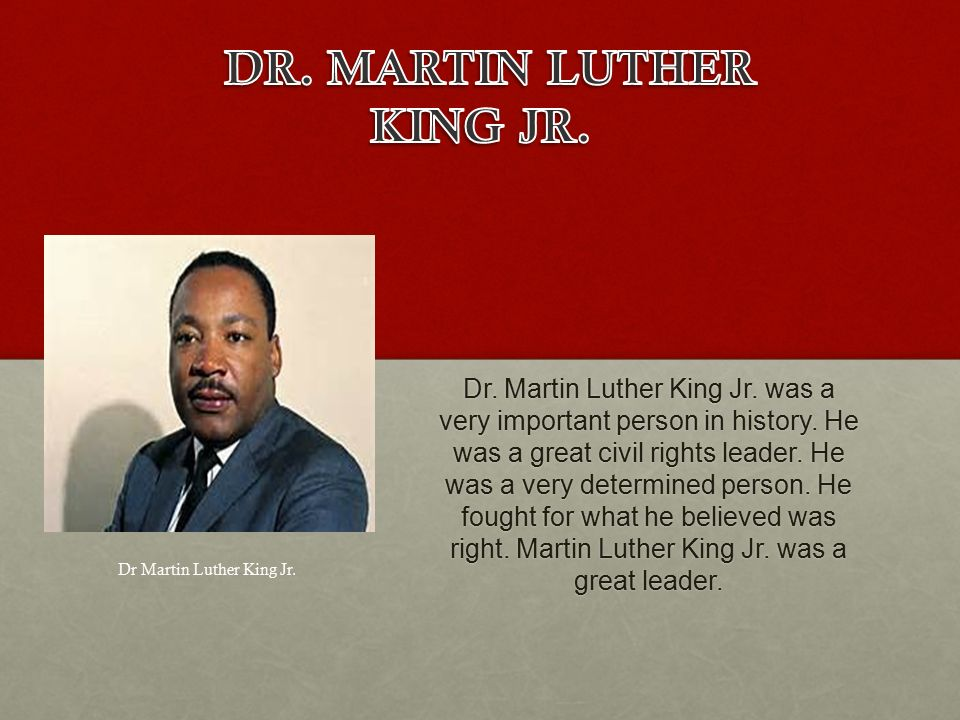 Leadership Hall Of Fame Dr Martin Luther King Jr Was A Very