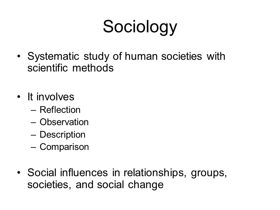 reflection about sociology
