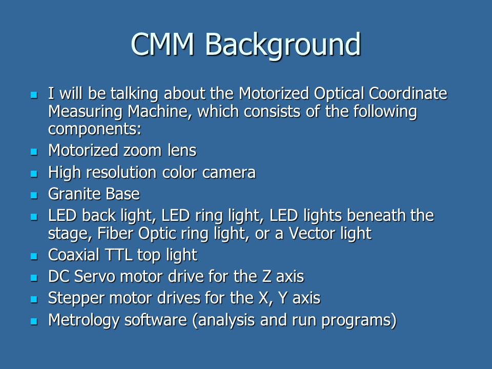 NCSLI 2007 In House Capability of an Optical CMM Calibration for any