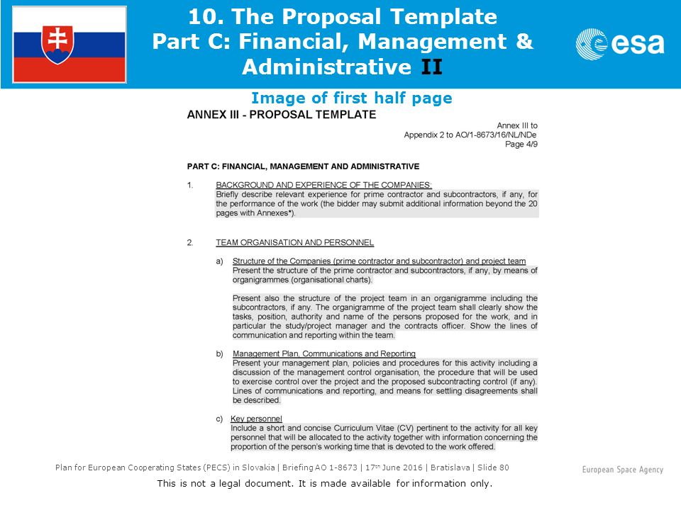 Plan For European Cooperating States Pecs In Slovakia Briefing