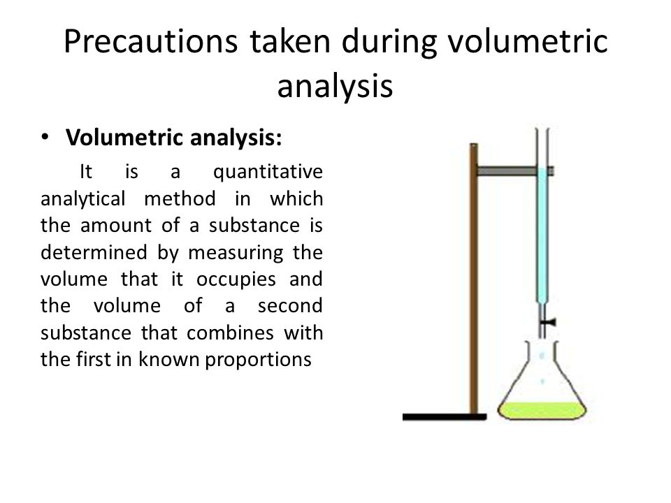 Precautions in gravimetric volumetric analysis presented by dar 2 precautions taken during volumetric analysis ccuart Gallery
