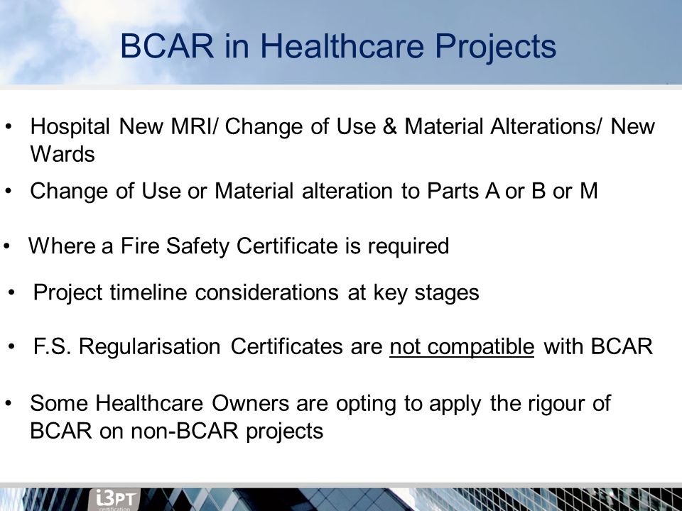Fire Safety In Healthcare Upgrade And Extension Works Under The New