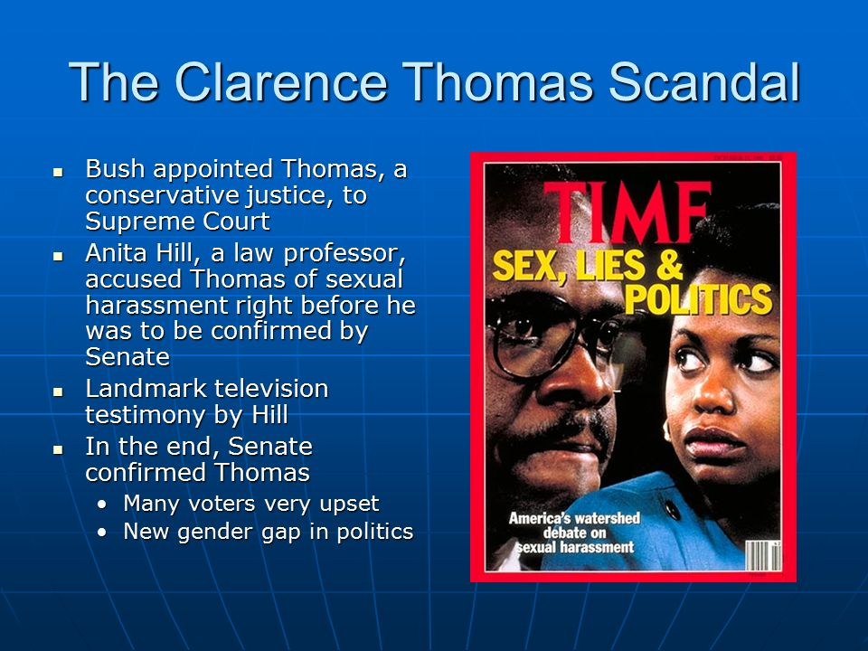 Image result for anita hill accuses supreme court pick clarence thomas