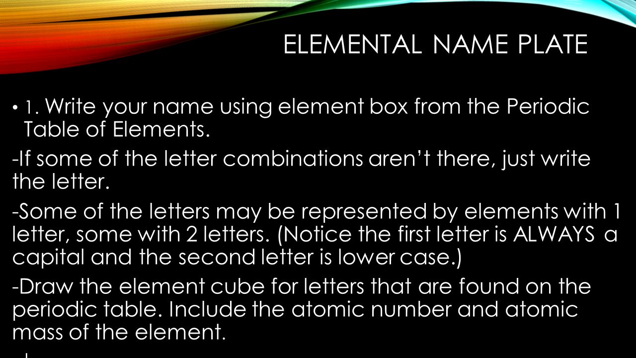 Get your atom diagram take a copy of the diagram of an atom use elemental name plate 1 write your name using element box from the periodic table of urtaz Image collections