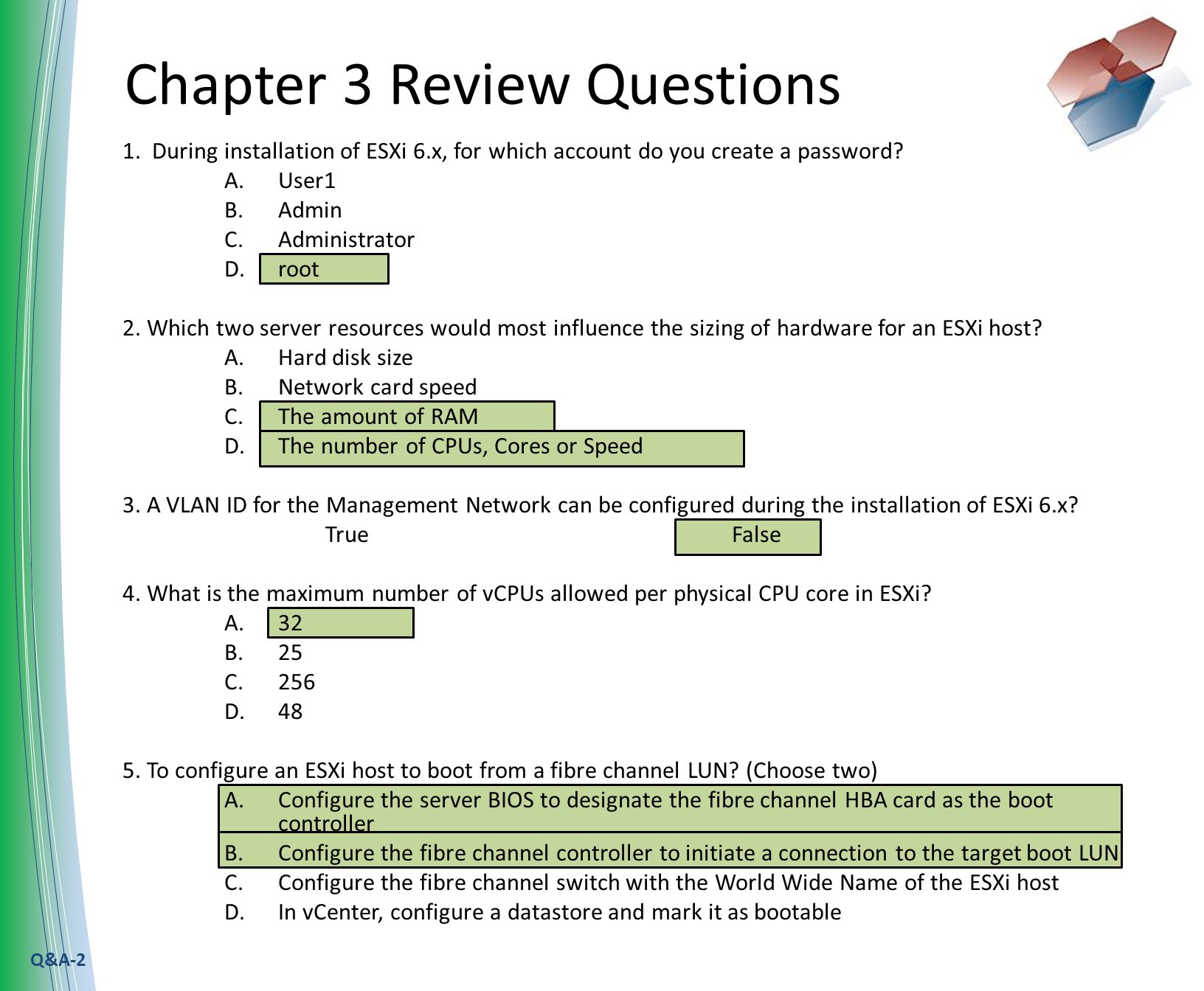 Q&A-1 Chapter 2 Review Questions 1  Which Virtualization