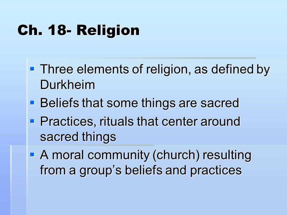 Religion  Ef 82 A7 Three Elements Of