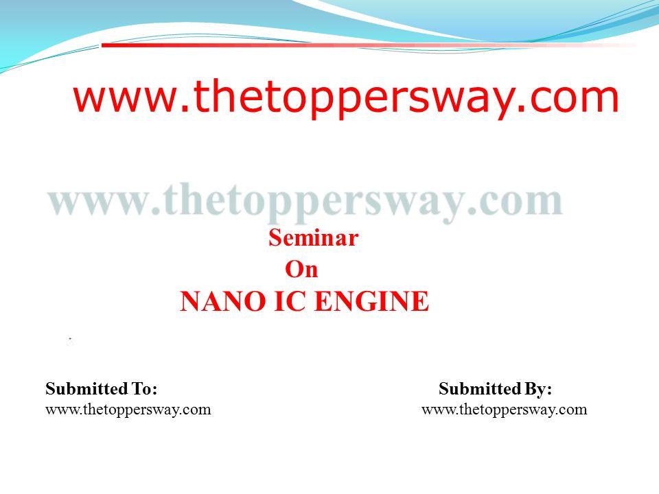 NANO IC ENGINE SEMINAR EBOOK DOWNLOAD