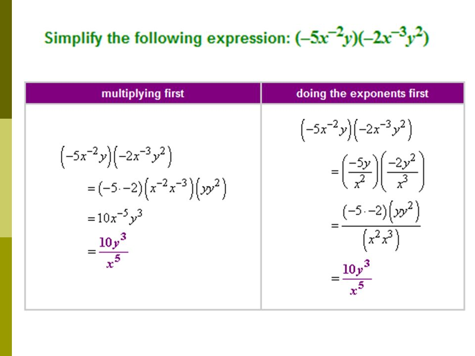 Simplify – No negative exponents. Binomial Radical Expressions I can ...