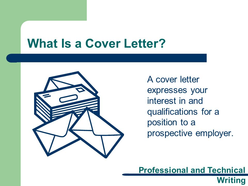 Professional and Technical Writing Application Letters ...
