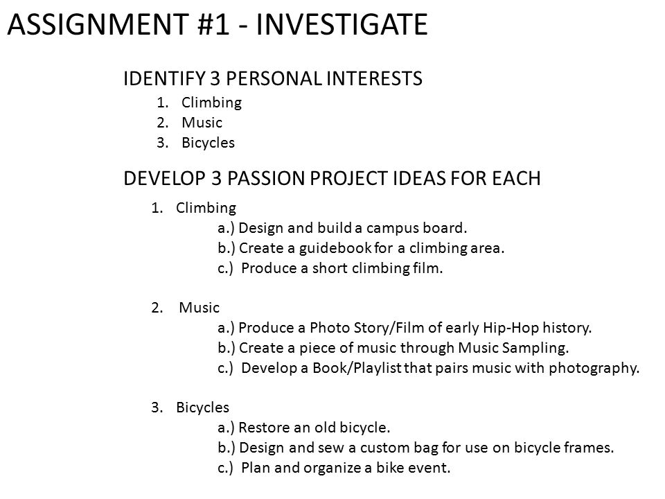Objective To Explore Ideas And Interests That You May One Day Pursue When Creating Your Ib Personal Project In 10 Th Grade Myp Year 5 10 Items To Be Ppt Download