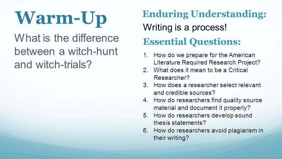 Essential Questions For Research Papers