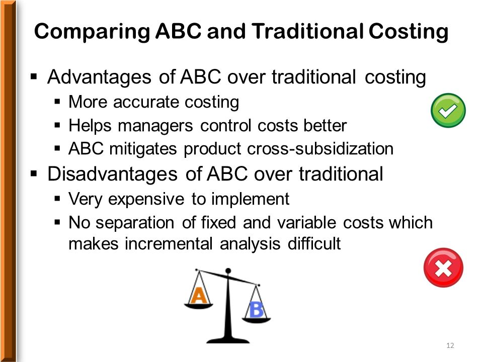 advantages of traditional costing