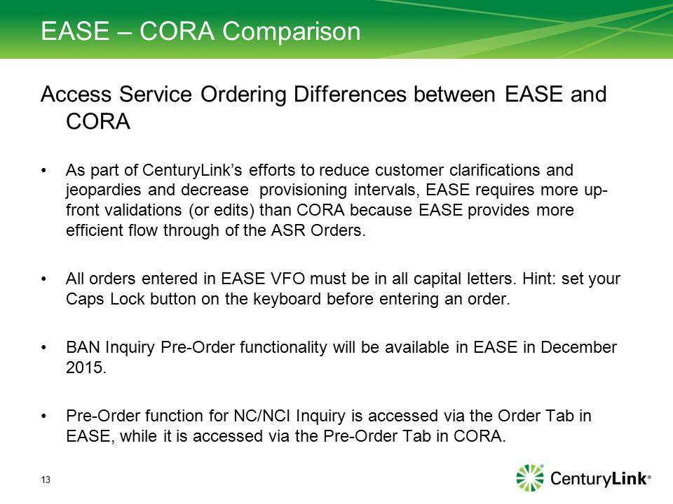 EASE ASR Consolidation Tech Spec Review November ppt download
