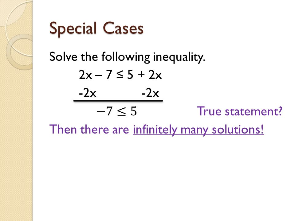 35 Solving Inequalities With Variables On Both Sides October 16