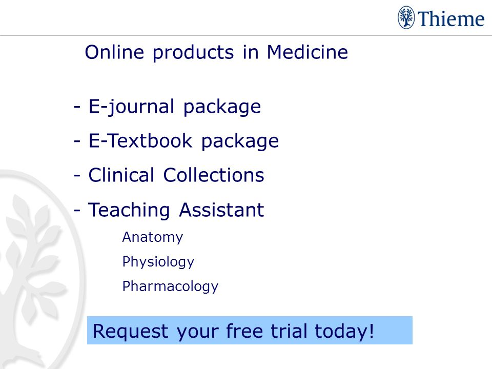 Thieme Publishing Group medical and scientific information since ppt ...