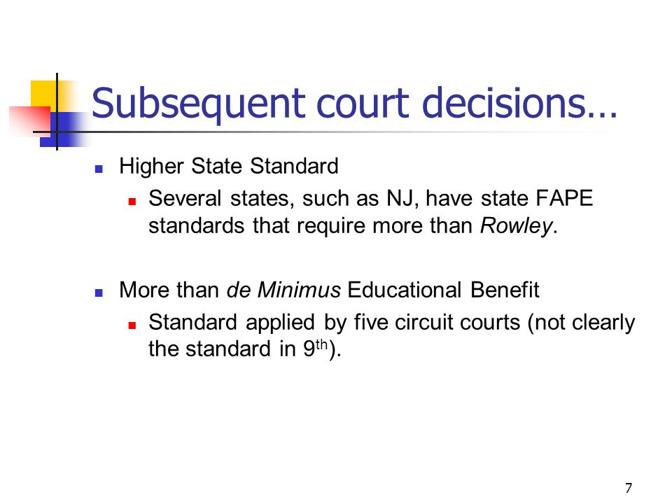 Rowley Fape Standard Some Vs Meaningful >> 1 A Free Appropriate Public Education Fape And Fape Revised