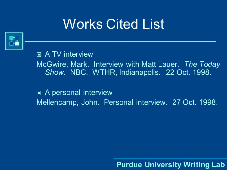 how to work cite an interview