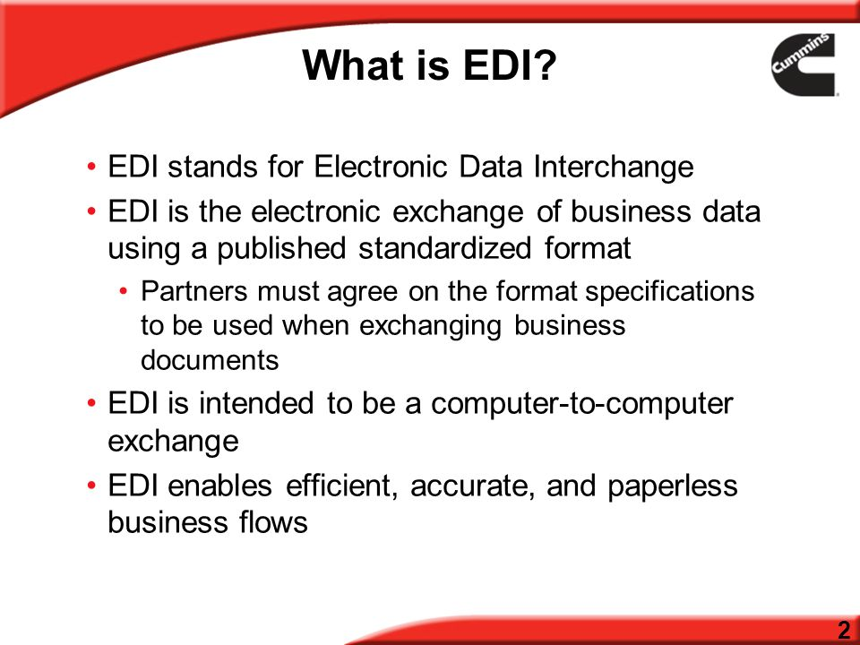ECommerce EDI Toolkit Version September What is EDI? EDI stands for