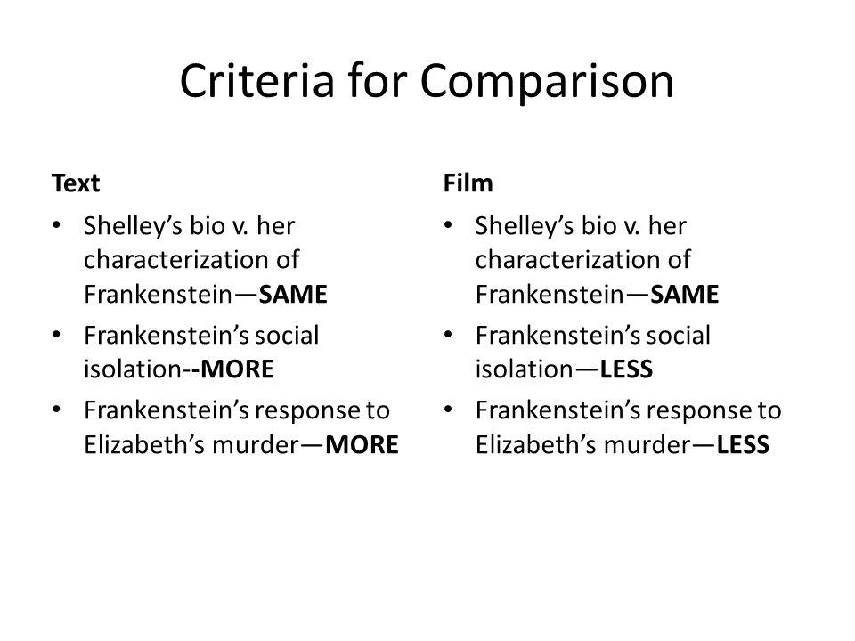 frankenstein and prometheus similarities