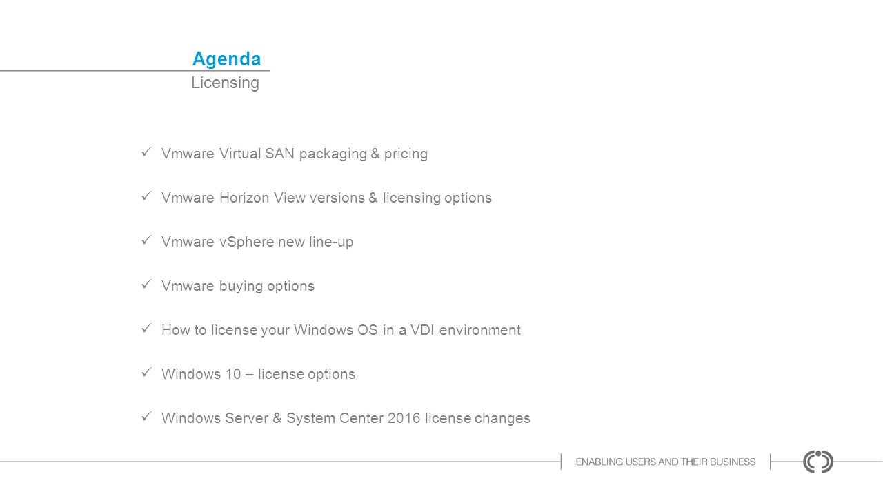 Vmware & MS Licensing Petra Coenen - 31 May 2016 # Licensing