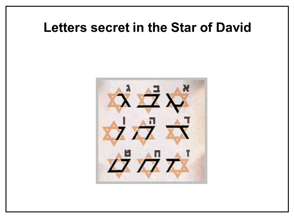 Star Of David In Modern Times The Star Of David Has Become A