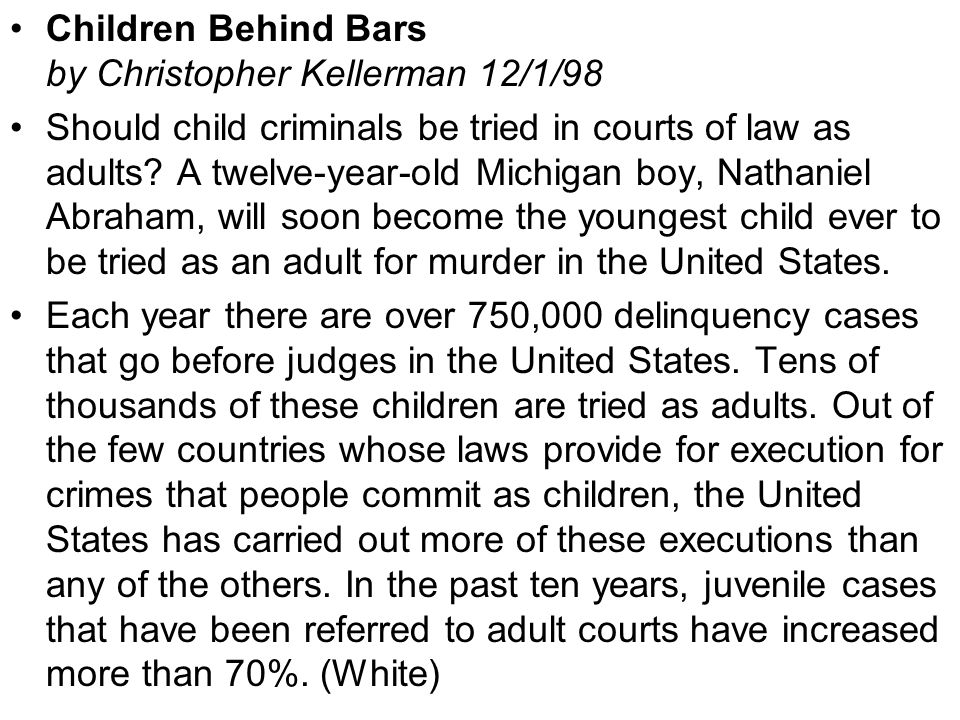 should a child be tried as an adults