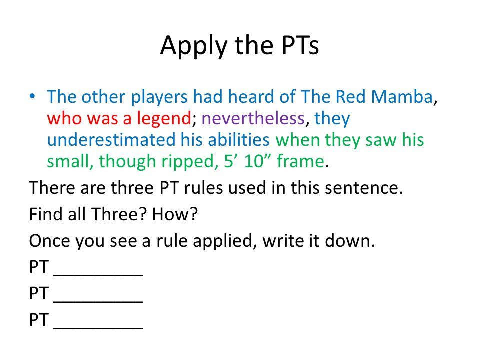 Compound-Complex Sentences with…  The Rules For each